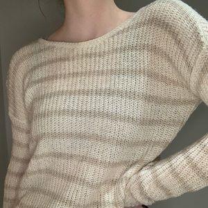 Hollister Striped Knit Sweater